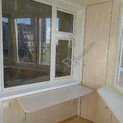 Мебель для лоджии, встроенные шкафы с раскладным столиком