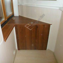 Капитальный ремонт лоджии с остеклением, отделкой и производством встроенной мебели на заказ
