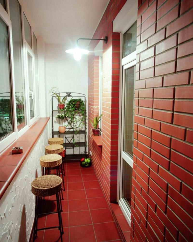 Отделка балкона и лоджии плиткой