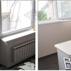 Комната до и после объединения с балконом