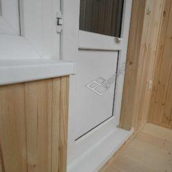 Обшивка лоджии деревянной вагонкой под ключ