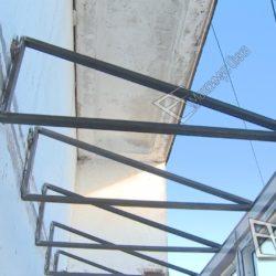 Самонесущая крыша из металлических ферм
