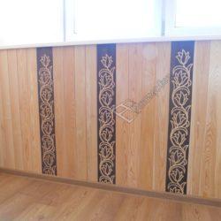 фото обшивки балкона деревянной вагонкой под ключ