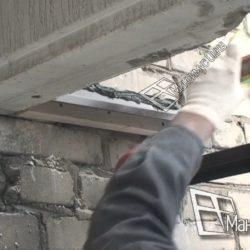 Герметизация швов крыши балкона сталинки