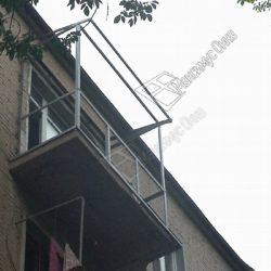 Монтаж каркаса для остекления и крыши балкона