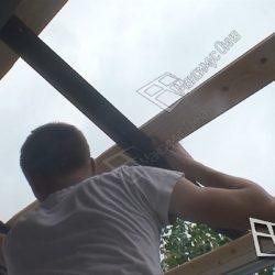 Монтаж крыши на балконе хрущевки