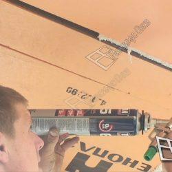 Герметизация швов на крыше балкона хрущевки