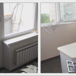 балкон до и после ремонта