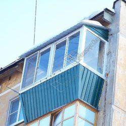 крыша на балконе с выносом