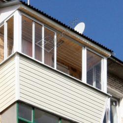 самонесущая крыша на балконе из жестких кровельных материалов