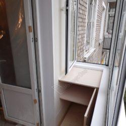 Стол- тумба встроенная на балконе под ключ