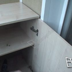 Тумба для балкона изготовленная после ремонта под ключ