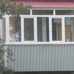 Монтаж крыши на балконе после застекления