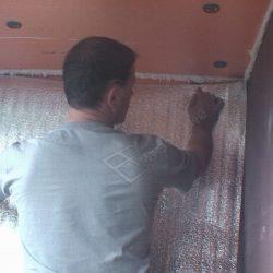 Пароизоляция балкона фольгированным пенофолом