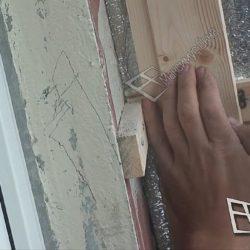 Обрешетка стен балкона для внутренней отделки