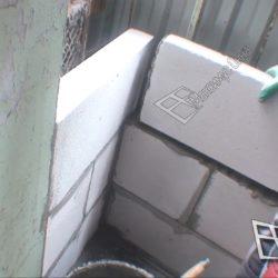 утепление балкона кладка пеноблоков