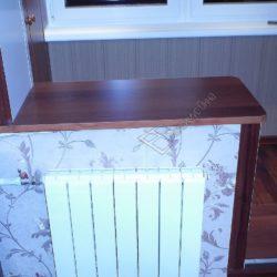 Подоконник демонтированного балконного блока благоустроенный под столешницу после объединения лоджии с комнатой