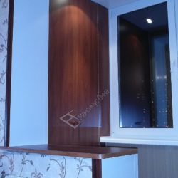 Вариант объединения лоджии с комнатой путем частичного демонтажа балконного блока