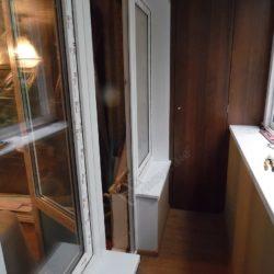 ПВХ отделка балкона при выносном остеклении