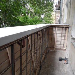 Монтаж подоконной части для остекления балкона с выносом