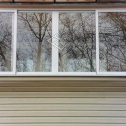 Ремонт балкона и остекление алюминиевыми окнами с раздвижными створками