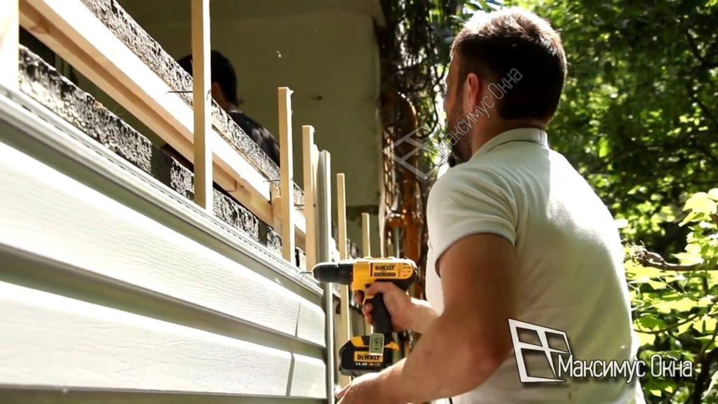 обшиваем балкон сайдингом
