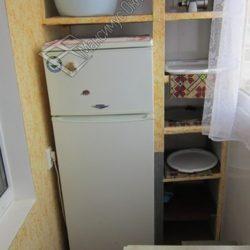 шкаф на балкон с холодильником