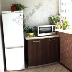 мини кухня на лоджии