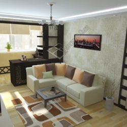 балкон совмещенный с гостиной