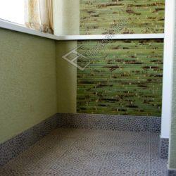 отделка балкона декоративной плиткой