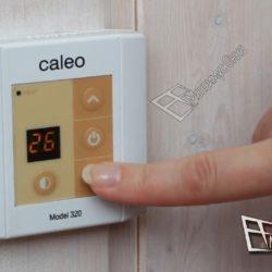caleo терморегулятор накладной