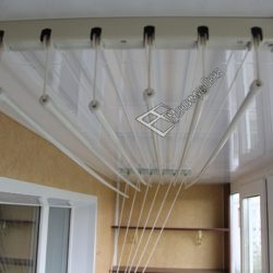 сушка для белья потолочная на балкон из пвх