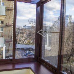 стеклопакет коричневый алюминий балкон