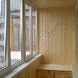 отделка балкона внутри вагонкой