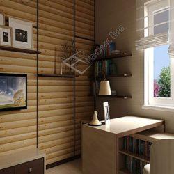 интерьер комнаты с блок хаусом