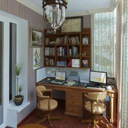 кабинет на 2 рабочих места на балконе