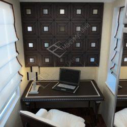 балкон оборудованный под кабинет