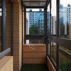 обшивка балкона с панорамным остеклением