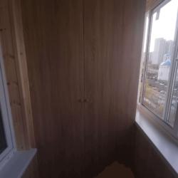 Остекление балкона с отделкой вагонкой