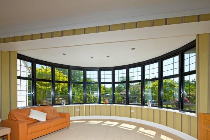 алюминиевые окна в интерьере