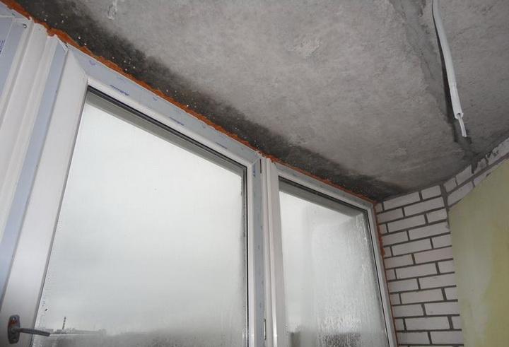конденсат на окнах на балконе