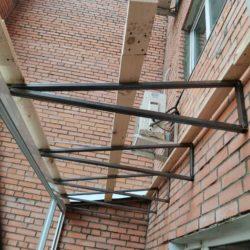 Работы по устройству крыши балкона