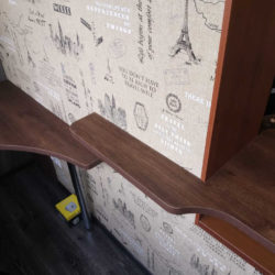 столешница из дерева для углового стола