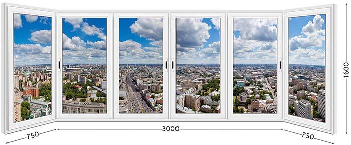 П-образный балкон