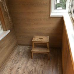 внутренняя отделка балкона ламинатом