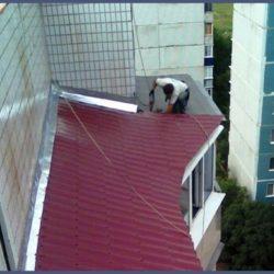 кровля балкона из ондулина