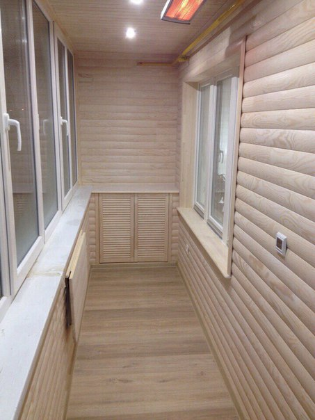 отделка балкона блок хаусом