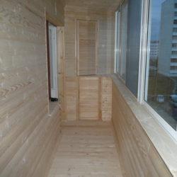 балкон с блок хаусом
