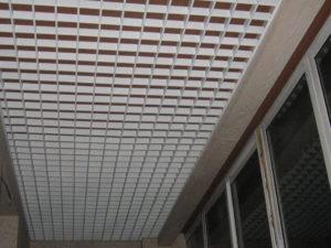 кассетный потолок на балконе