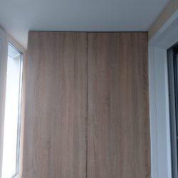Ремонт лоджии 3 метра с утеплением парапета пеноплексом и установкой столешницы